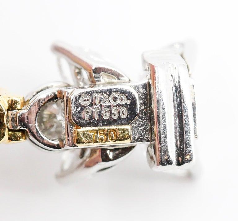 Tiffany & Co. Ruby, Diamond, Platinum and 18 Karat Gold Victoria Bracelet For Sale 1