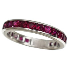 Tiffany & Co Ruby Eternity Platinum Band Ring