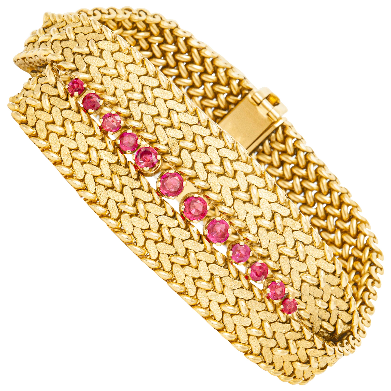 Tiffany & Co. Ruby Gold Bracelet