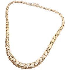 Tiffany & Co. Russian Weave Gradual Yellow Gold Link Necklace