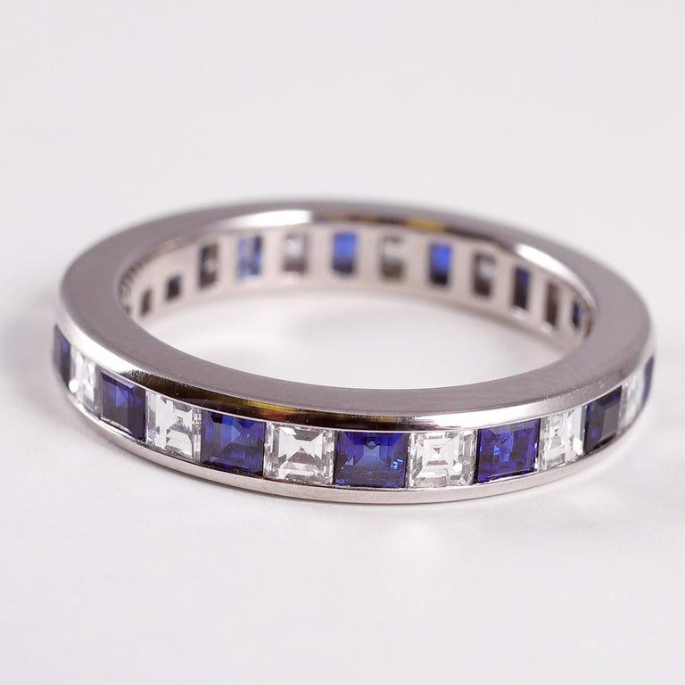Tiffany & Co. Sapphire and Diamond Eternity Band For Sale 1