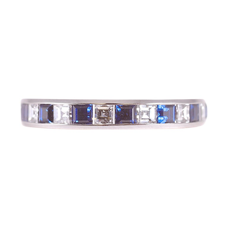 Tiffany & Co. Sapphire and Diamond Eternity Band For Sale