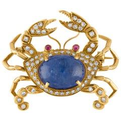 Tiffany & Co. Sapphire Crab Pin