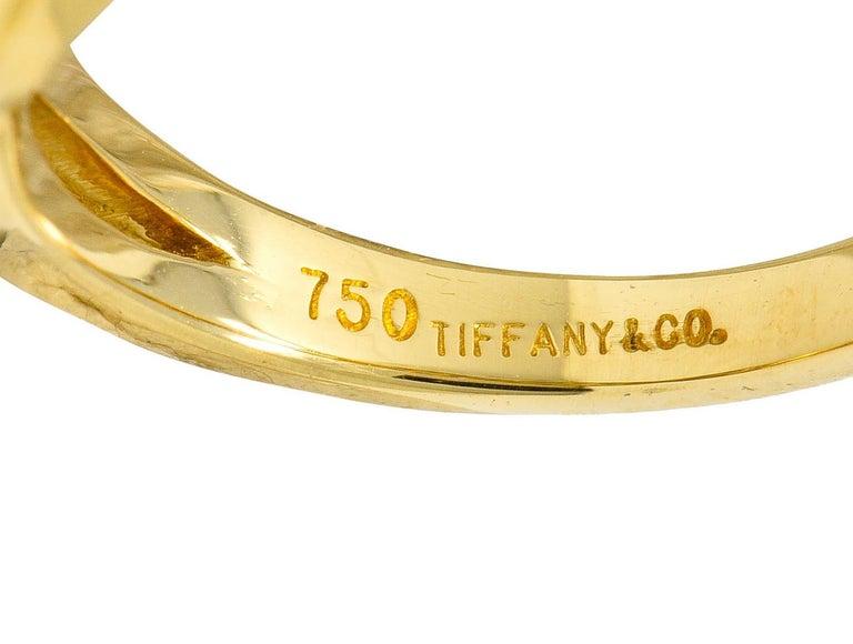 Tiffany & Co. Sapphire Diamond 18 Karat Gold Interlaced Band Ring For Sale 3