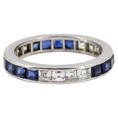 Tiffany & Co. Sapphire, Diamond and Platinum Band
