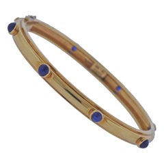 Tiffany & Co. Sapphire Gold Bangle Bracelet