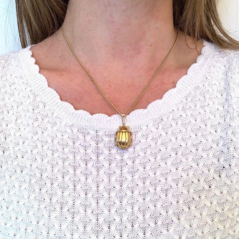 Tiffany & Co. Scarab Charm Pendant, 18 Karat Yellow Gold, 1993 1