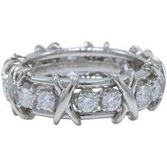 Tiffany & Co. Schlumberger 16-Stone Diamond and Platinum Ring 1.14 Carat