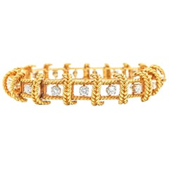 Tiffany & Co. Schlumberger 18 Karat Gold and Diamond Bracelet