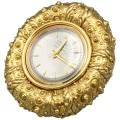 Tiffany & Co. Schlumberger 18 Karat Gold Sea Urchin Clock