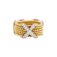 Tiffany & Co. Schlumberger 18 Karat Six-Row Ring