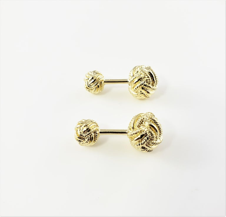 Tiffany & Co. Schlumberger 18 Karat Yellow Gold Cufflinks In Good Condition For Sale In New Milford, CT
