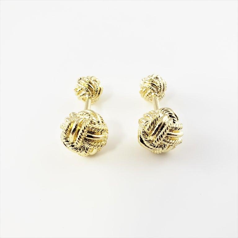 Tiffany & Co. Schlumberger 18 Karat Yellow Gold Cufflinks For Sale 2