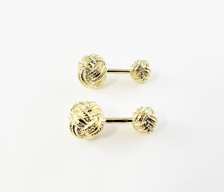 Tiffany & Co. Schlumberger 18 Karat Yellow Gold Cufflinks For Sale 4