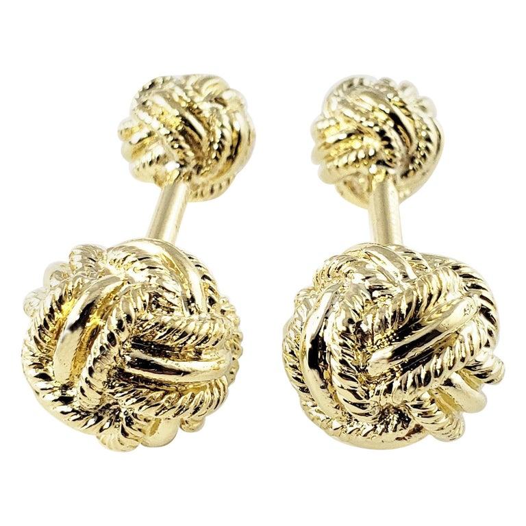 Tiffany & Co. Schlumberger 18 Karat Yellow Gold Cufflinks For Sale
