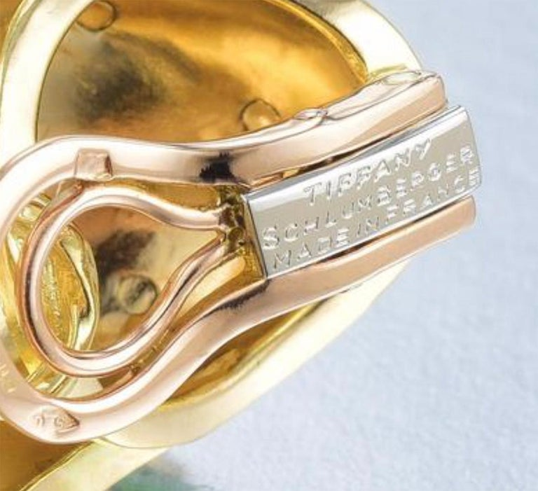 Tiffany & Co. Schlumberger 18 Karat Banana Earrings In Excellent Condition For Sale In Sarasota, FL