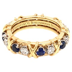 Tiffany & Co. Schlumberger Diamond and Sapphire Eternity Ring