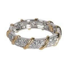 Tiffany & Co. Schlumberger Diamond Band in 18K Yellow Gold/Platinum 1.20 CTW