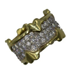 beb73a825 Tiffany and Co. Schlumberger Diamond Gold Wrap Band Ring For Sale at ...