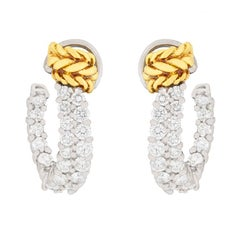 Tiffany & Co. Schlumberger Diamond Hoop Earrings, circa 1990s