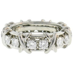Tiffany & Co. Schlumberger Diamond Platinum Band Ring