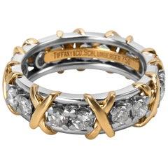 Tiffany & Co. Schlumberger Diamond Ring in 18K Yellow Gold & Platinum 1.14 Carat