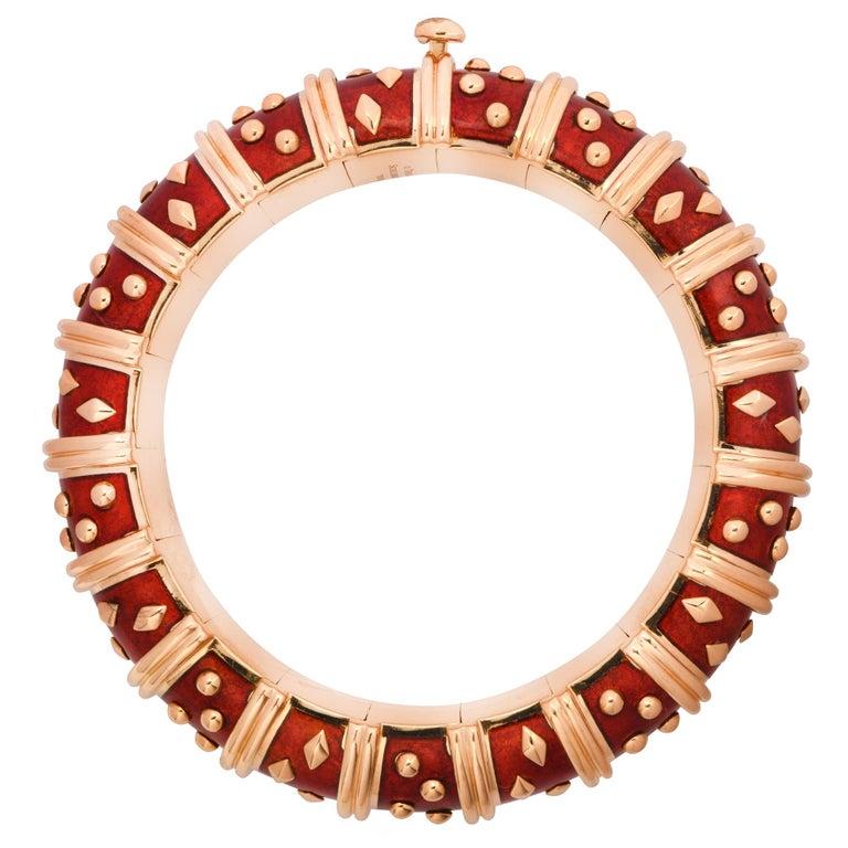 Modern Tiffany & Co. Schlumberger Dot Losange Bangle Bracelet