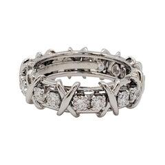 Tiffany & Co. Schlumberger 'Eighteen Stone' Platinum and Diamond Ring