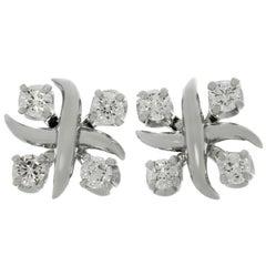 Tiffany & Co. Schlumberger Lynn Diamant Platin Ohrringe