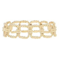 Tiffany & Co. Schlumberger Open Square Bracelet 18 Karat Yellow Gold Designer