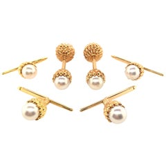 Tiffany & Co., Schlumberger Pearl and Gold Dress Set