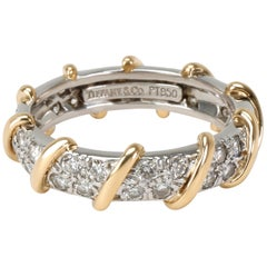 Tiffany & Co. Schlumberger Platinum and 18K Yellow Gold Diamond Band, 7/8 Carat