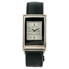 Tiffany & Co. Schlumberger Quartz, Silver Dial, Certified &
