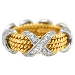 Tiffany & Co. Schlumberger Ring with Diamonds