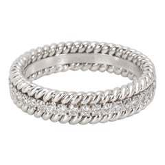 Tiffany & Co. Schlumberger Rope Diamond Eternity Band in Platinum 0.29 Carat
