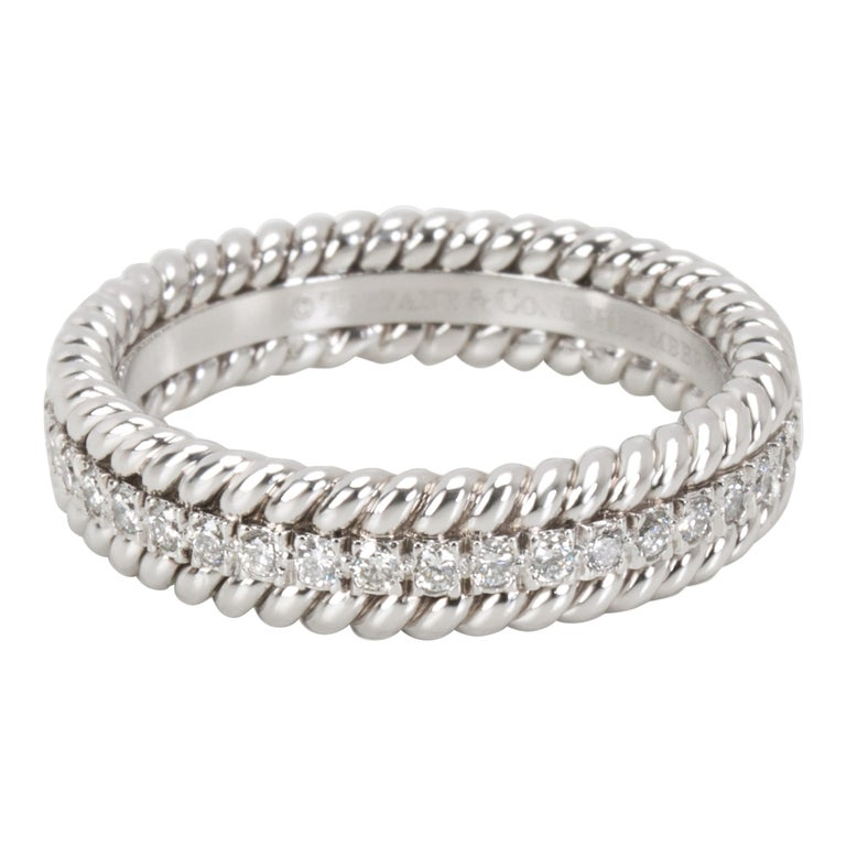 Tiffany & Co. Schlumberger Rope Diamond Eternity Band in Platinum 0.29 Carat For Sale