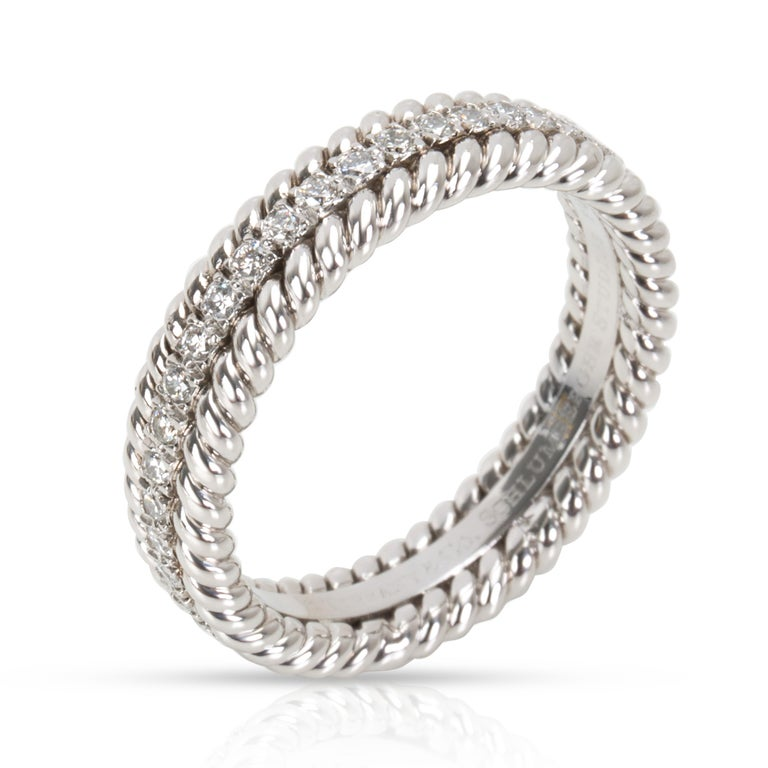 Women's Tiffany & Co. Schlumberger Rope Diamond Eternity Band in Platinum 0.29 Carat For Sale