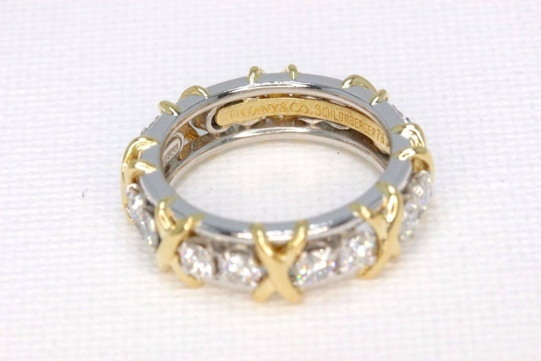 064bbc7ae Tiffany & Co. Schlumberger Sixteen Stone 1.14TCW Diamond Ring 18kt &  Platinum For Sale