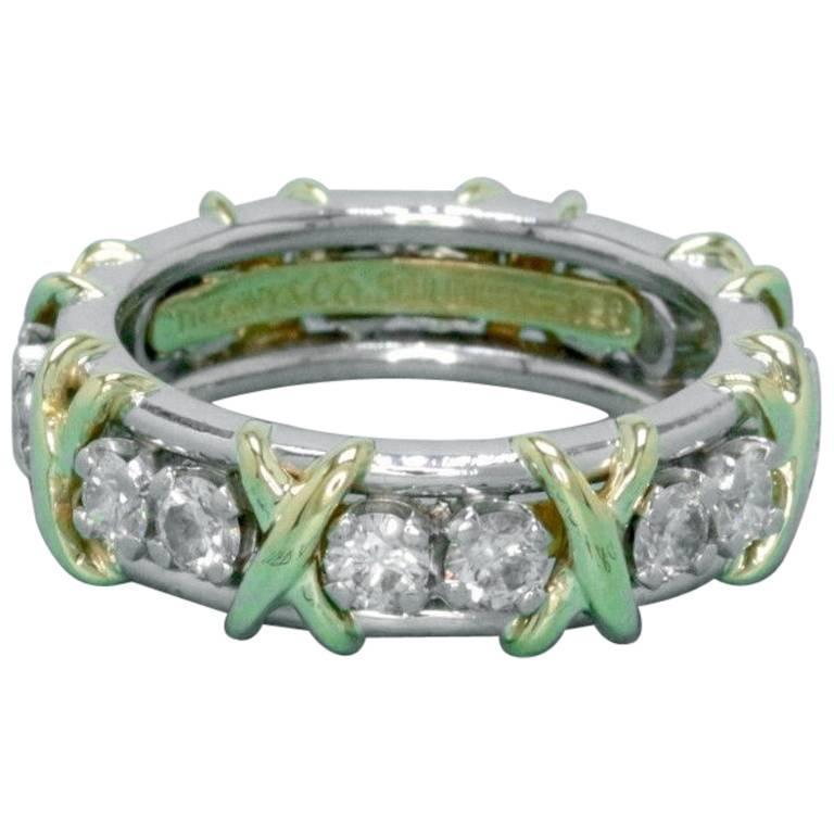 020949089 Tiffany & Co. Schlumberger Sixteen Stone 1.14TCW Diamond Ring 18kt &  Platinum ...