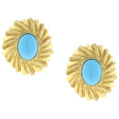 Tiffany & Co. Schlumberger Turquoise Earrings