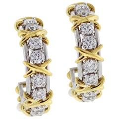Tiffany & Co. Schlumberger Twenty Stone Hoop Earrings