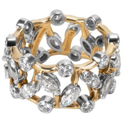Tiffany & Co. Schlumberger Vigne Marquise Diamond Band in 18K Gold & Platinum