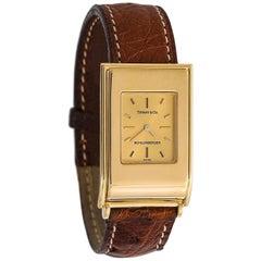 Tiffany & Co. Schlumberger Women's Quartz Watch 18 Karat Yellow Gold