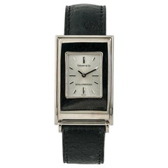 Tiffany & Co. Schlumberger Women's Quartz Watch Silver Dial 18 Karat Yellow Gold