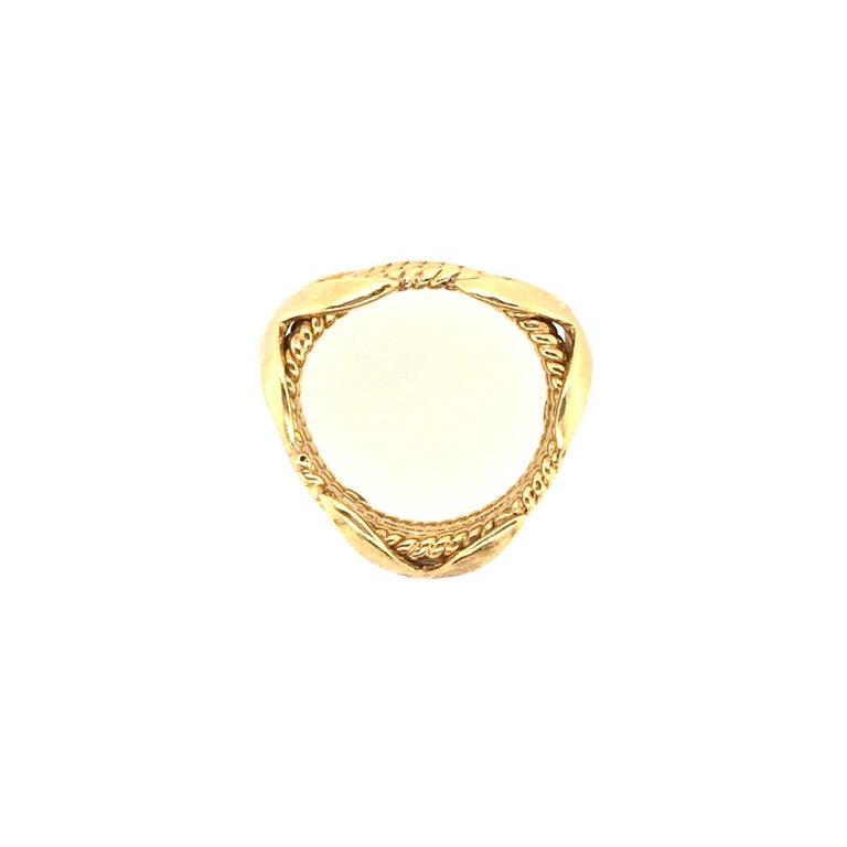 Women's or Men's Tiffany & Co., Schlumberger Yellow Gold Rope Six-Row X-Ring