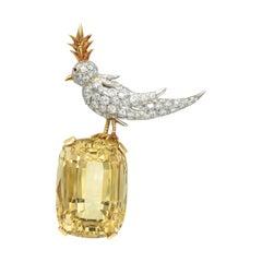 "Tiffany & Co. 'Schumberger"" Bird on the Rock Brooch"