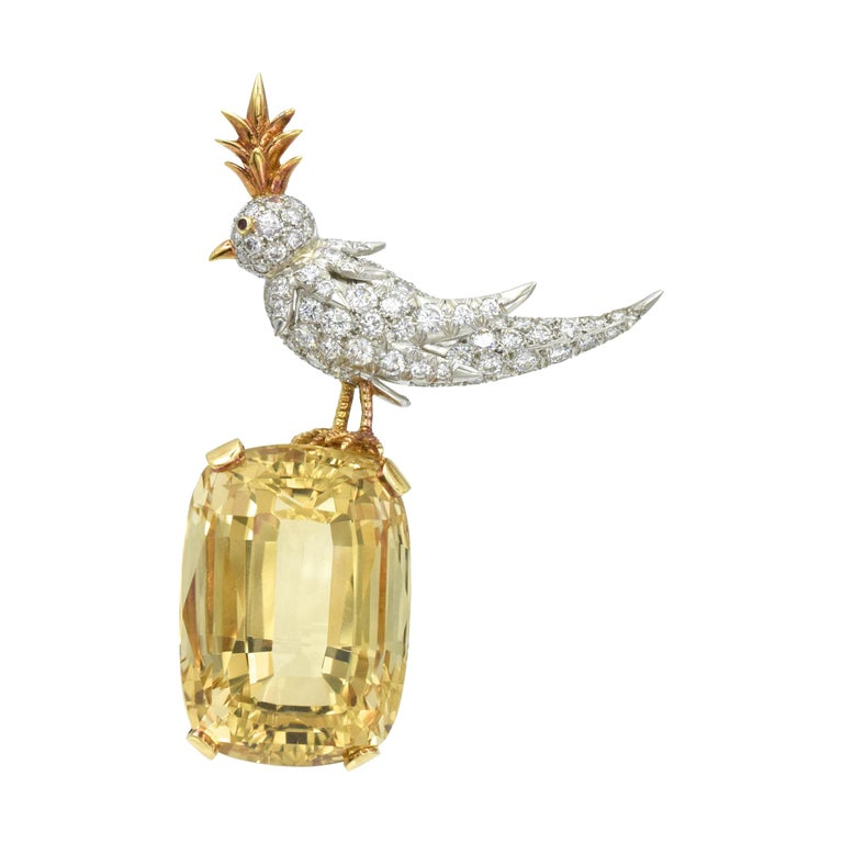 """Tiffany & Co. 'Schumberger"""" Bird on the Rock Brooch For Sale"""