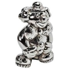 Tiffany & Co. Sculptured Sterling Silver Clown Figure Rattle, 1992