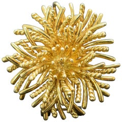Tiffany & Co. Sea Anemone Brooch 18 Karat