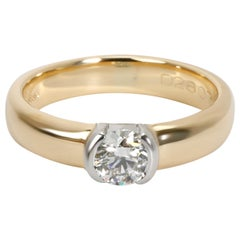 Tiffany & Co. Semi Bezel Diamond Ring in 18 Karat 2-Tone Gold 0.35 Carat